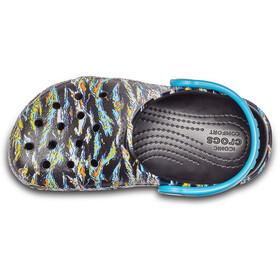 Crocs Classic Graphic - Sandales Enfant - noir/Multicolore
